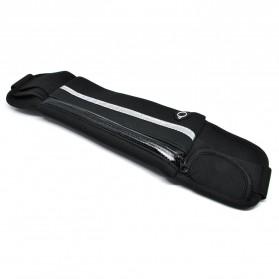 Multifunction Sports Belt with Flat Pocket - ZE-WP700 - Black - 2
