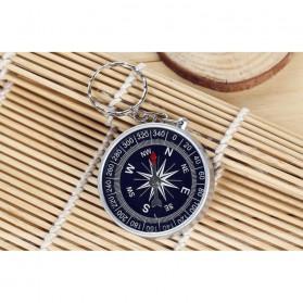 Travel Compass Outdoor American / Kompas Camping Portable - Black - 4