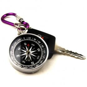 Travel Compass Outdoor American / Kompas Camping Portable - Black - 5