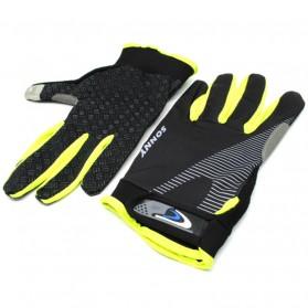 Sonny Sarung Tangan Sepeda Anti Slip Sport Gloves - Size L - Black/Green