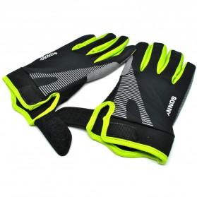 Sonny Sarung Tangan Sepeda Anti Slip Sport Gloves - Size L - Black/Green - 3
