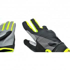 Sonny Sarung Tangan Sepeda Anti Slip Sport Gloves - Size L - Black/Green - 4
