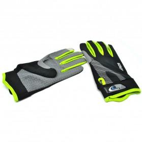 Sonny Sarung Tangan Sepeda Anti Slip Sport Gloves - Size L - Black/Green - 6