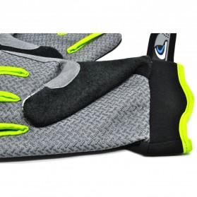 Sonny Sarung Tangan Sepeda Anti Slip Sport Gloves - Size L - Black/Green - 7