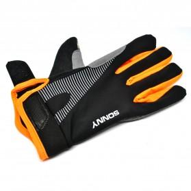 Sonny Sarung Tangan Sepeda Anti Slip Sport Gloves - Size L - Black/Orange