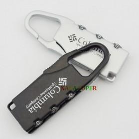 TaffGUARD Columbia Gembok Koper Numeric Code Lock - Silver - 7