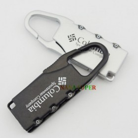 TaffGUARD Columbia Gembok Koper Numeric Code Lock - Black - 7