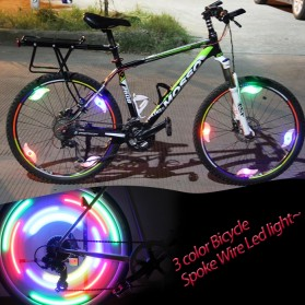 DACHELUN Lampu Ban Sepeda Colorful LED Bicycle Wheel Light 1 PCS - DC-889 - Multi-Color - 3
