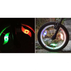 DACHELUN Lampu Ban Sepeda Colorful LED Bicycle Wheel Light 1 PCS - DC-889 - Multi-Color - 5