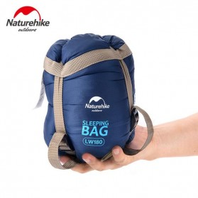 NatureHike Kantung Tidur Travel Camping Portable Sleeping Bag - LW180 - Navy Blue