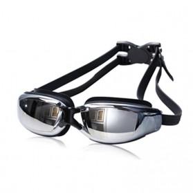 RUIHE Kacamata Renang Profesional Anti Fog UV Protection - Black - 2