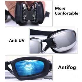 RUIHE Kacamata Renang Profesional Anti Fog UV Protection - Black - 3