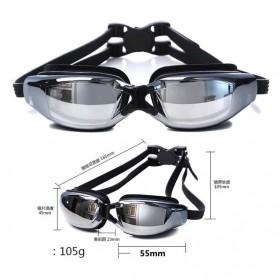 RUIHE Kacamata Renang Profesional Anti Fog UV Protection - Black - 4