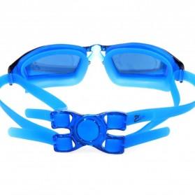 RUIHE Kacamata Renang Profesional Anti Fog UV Protection - Black - 5