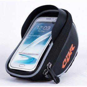 CBR Smartphone Holder Sepeda Ultra Sensitive Touch Screen Waterproof - Black - 3