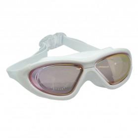 Ruihe Kacamata Renang Big Frame Anti Fog UV Protection - RH9110 - Red