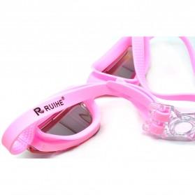 RUIHE Kacamata Renang Anti Fog UV Protection - RH5310 - Pink - 4