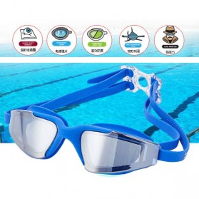 RUIHE Kacamata Renang Anti Fog UV Protection - RH5310 - Blue - 5