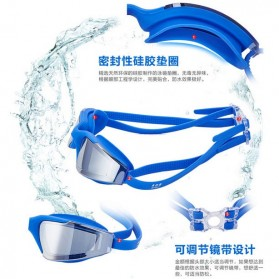 RUIHE Kacamata Renang Anti Fog UV Protection - RH5310 - Blue - 6