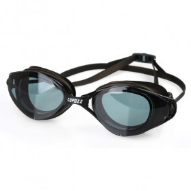 COPOZZ Kacamata Renang Anti Fog UV Protection - GOG-3550 - Black/Transparant