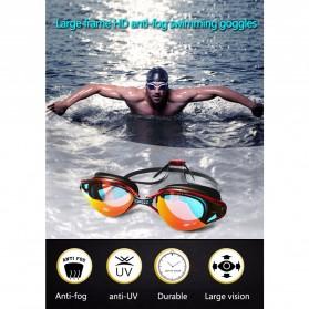 COPOZZ Kacamata Renang Anti Fog UV Protection - GOG-3550 - Black/Transparant - 2