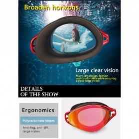 COPOZZ Kacamata Renang Anti Fog UV Protection - GOG-3550 - Black/Transparant - 5