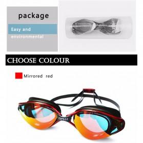COPOZZ Kacamata Renang Anti Fog UV Protection - GOG-3550 - Black/Transparant - 7