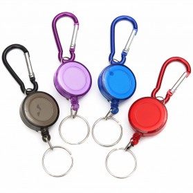 Multifunctional Retractable Carabiner with Key Chain - Black - 2