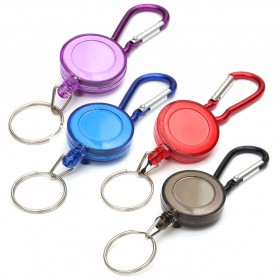Multifunctional Retractable Carabiner with Key Chain - Black - 3