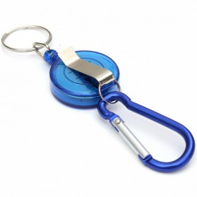 Multifunctional Retractable Carabiner with Key Chain - Black - 5