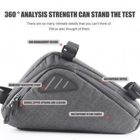 Tas Sepeda Serbaguna Triangle Frame Bag Pouch - ROS-12657 - Black - 2