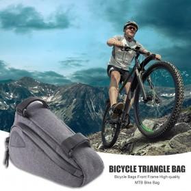 Tas Sepeda Serbaguna Triangle Frame Bag Pouch - ROS-12657 - Black - 3
