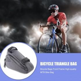 Tas Sepeda Serbaguna Triangle Frame Bag Pouch - ROS-12657 - Black - 4