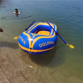 Dolphin Perahu Karet Inflatable Boat 2 Orang - 713 - Yellow - 4