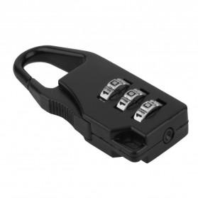TaffGUARD Gembok Koper Kode Angka - Z001 - Black