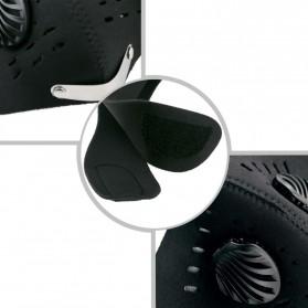 Masker Motor Filter Anti Polusi - Black - 3