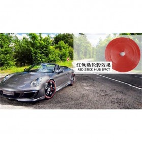 Stiker Reflektif Ban Mobil 8m - Red