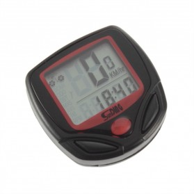 SunDING Speedometer Sepeda 14 Function LCD Display Bicycle - SD-548B - Black