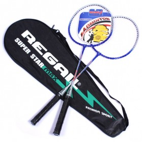 Regail Raket Badminton 2 PCS - Blue