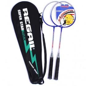 Regail Raket Badminton 2 PCS - Blue - 2