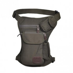 Tas Pinggang Kanvas Model Drop Leg - Army Green