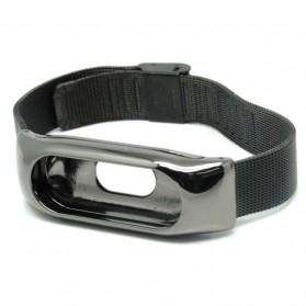 Watchband Milanese Stainless Steel Xiaomi Mi Band 2 (Replika 1:1) - Black - 2