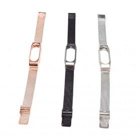 Watchband Milanese Stainless Steel Xiaomi Mi Band 2 (Replika 1:1) - Black - 5