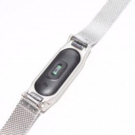 Watchband Milanese Stainless Steel Xiaomi Mi Band 2 (Replika 1:1) - Black - 7