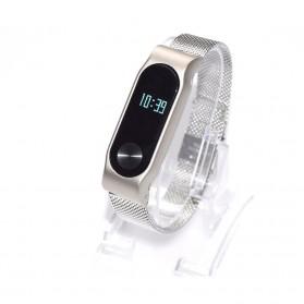 Watchband Milanese Stainless Steel Xiaomi Mi Band 2 (Replika 1:1) - Black - 8