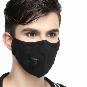 Wecan Masker Filter Anti Polusi Udara Protective Mask PM2.5 N95 - KN95 - Black - 1