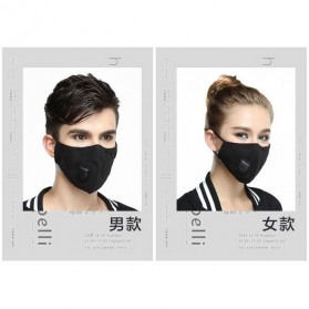 Wecan Masker Filter Anti Polusi Udara Protective Mask PM2.5 N95 - KN95 - Black - 10