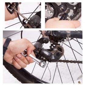 TaffSport Perlengkapan Reparasi Ban Sepeda - 21040-N - Black - 7