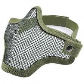 Masker AirSoft Gun - V1 - Army Green