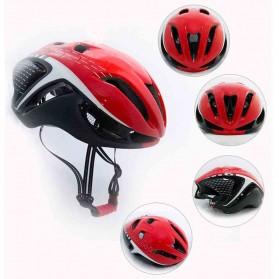 Locle Helm Sepeda - Red/Black - 6